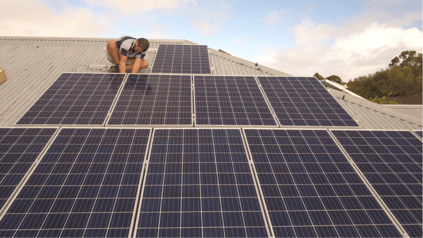 solar panel roof installation Fremantle